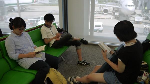 空港でも勉強!